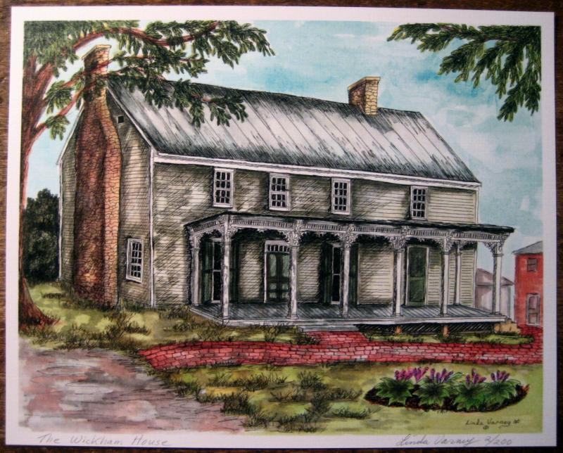 Wickham House Color Print 8 x 10""